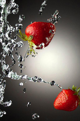 Water Strawberry Wallpaper
