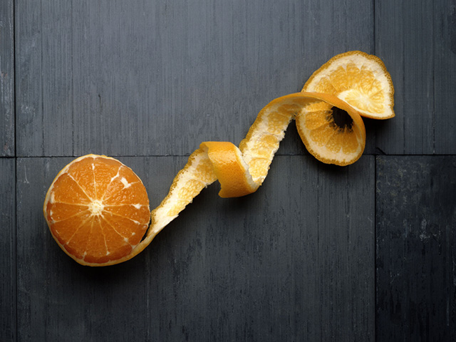 Orange Fruit Painted Table