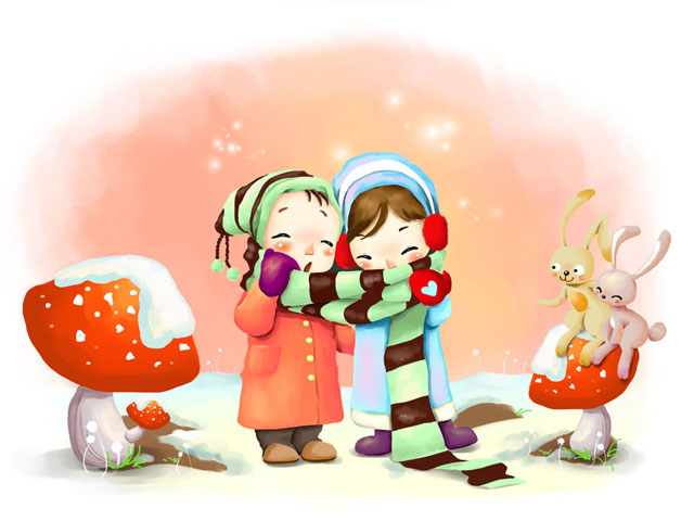 Valentines Cute Cartoon