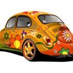 Hippie VW Beetle